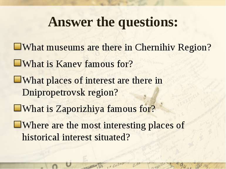 Answer the questions: What museums are there in Chernihiv Region? What is Kan...