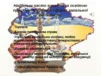 Торгівля; Банкова та страхова справа; Управління юридичними особами, тобто ак...