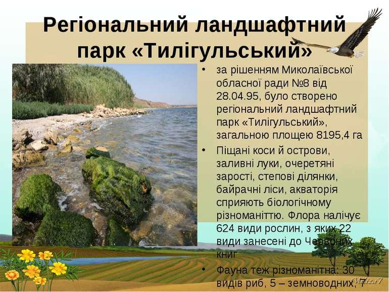 Регіональний ландшафтний парк «Тилігульський» за рішенням Миколаївської облас...