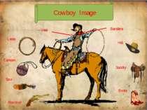 Revolver Spur Boots Lasso Bandana Vest Hat Saddle Canteen Cowboy Image