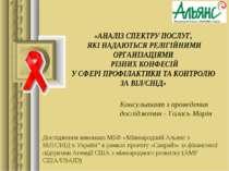 Консультант з проведення дослідження - Галась Марія Дослідження виконано МБФ ...