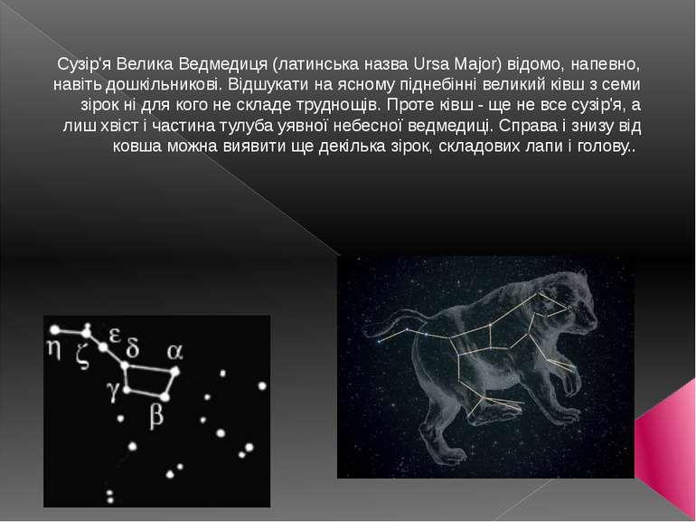 Сузір'я Велика Ведмедиця (латинська назва Ursa Major) відомо, напевно, навіть...