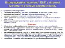 Впровадження посиленої ЕЦП у поштові системи та системи документообігу Скорот...