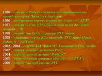 1996 – створено Раду учнівського самоврядування та проведено першу Посвяту у ...