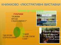 """РУБРИКИ КНИЖКОВО -ІЛЮСТРАТИВНІ ВИСТАВКИ """"кроки до здоров'я"""""""