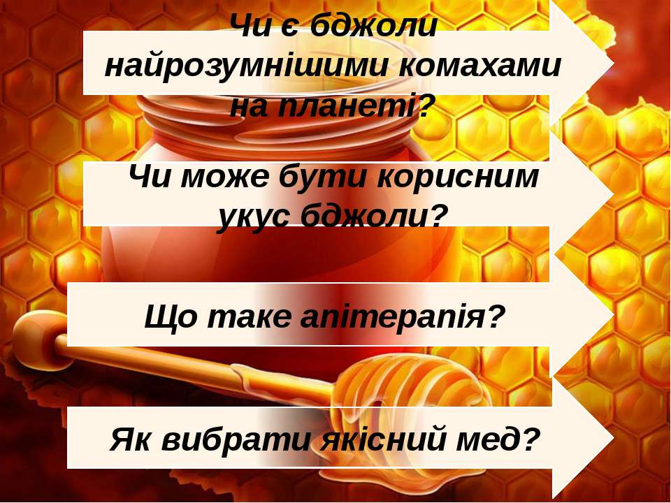 Як вибрати якісний мед? Що таке апітерапія? Чи може бути корисним укус бджоли...