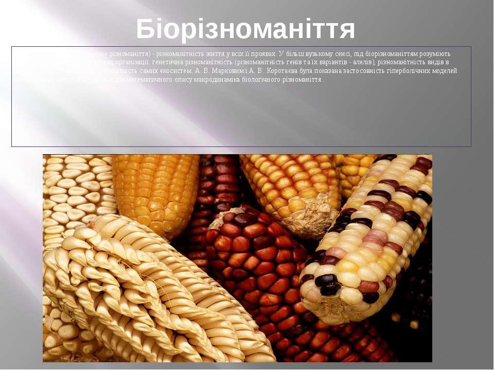 Біорізноманіття Біорізноманіття (біологічне різноманіття) - різноманітність ж...
