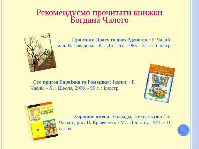 Рекомендуємо прочитати книжки Богдана Чалого Про милу Прагу та двох Зденеків ...