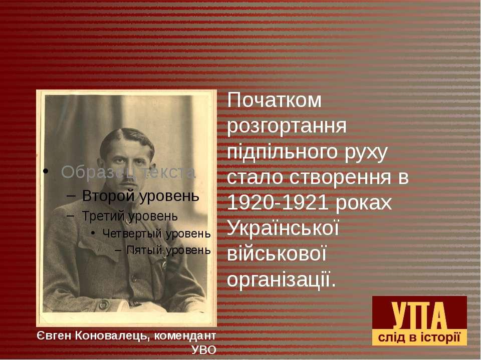 Початком розгортання підпільного руху стало створення в 1920-1921 роках Украї...