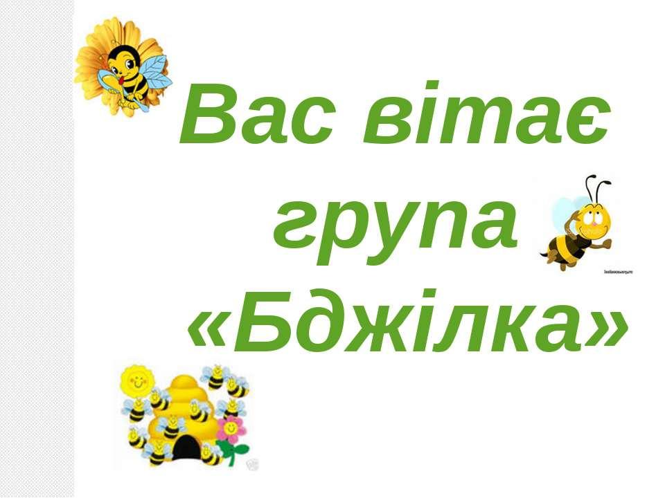 Вас вітає група «Бджілка»