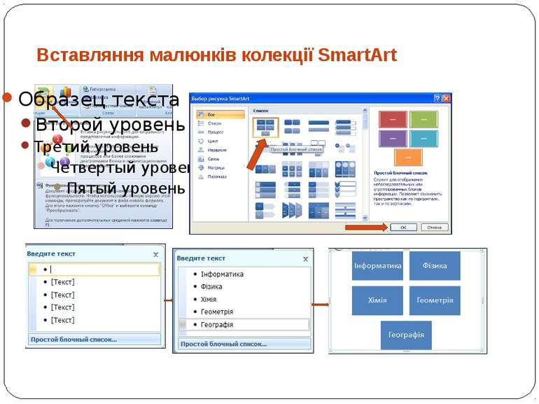 Вставляння малюнків колекції SmartArt