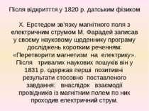 Після відкритття у 1820 р. датським фізиком X. Ерстедом зв'язку магнітного по...