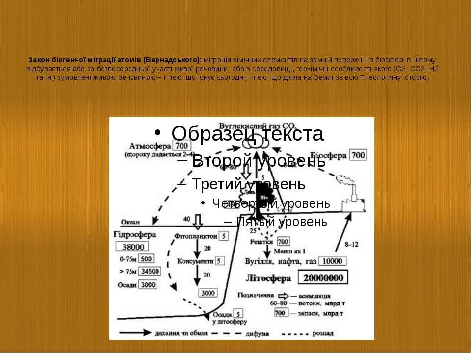 Закон біогенної міграції атомів (Вернадського):міграція хімічних елементів н...