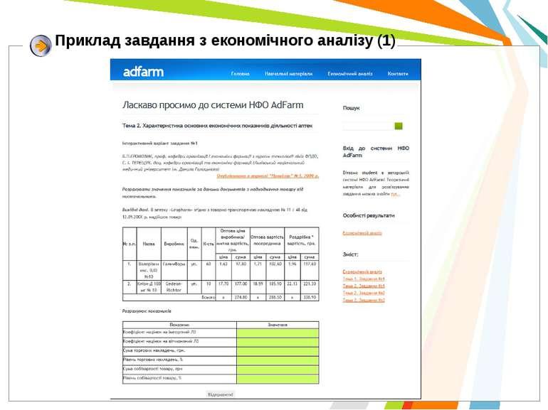 Приклад завдання з економічного аналізу (1)