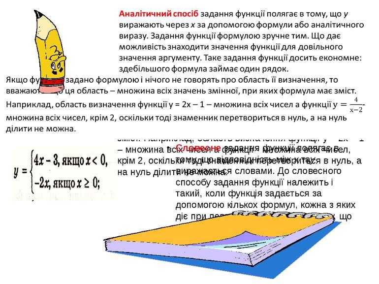 Словесне задання функції полягає в тому, що відповідність між х тау виражаєть...