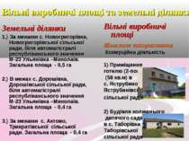 Вільні виробничі площі та земельні ділянки Земельні ділянки 1.) За межами с. ...