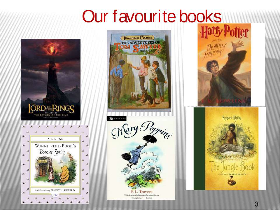 Our favourite books