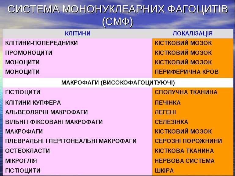 СИСТЕМА МОНОНУКЛЕАРНИХ ФАГОЦИТІВ (СМФ)