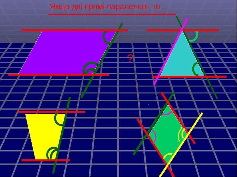 Якщо дві прямі паралельні, то... ?