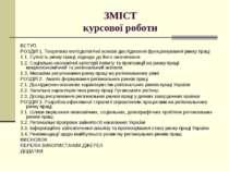 ЗМІСТ курсової роботи ВСТУП РОЗДІЛ 1. Теоретико-методологічні основи дослідже...
