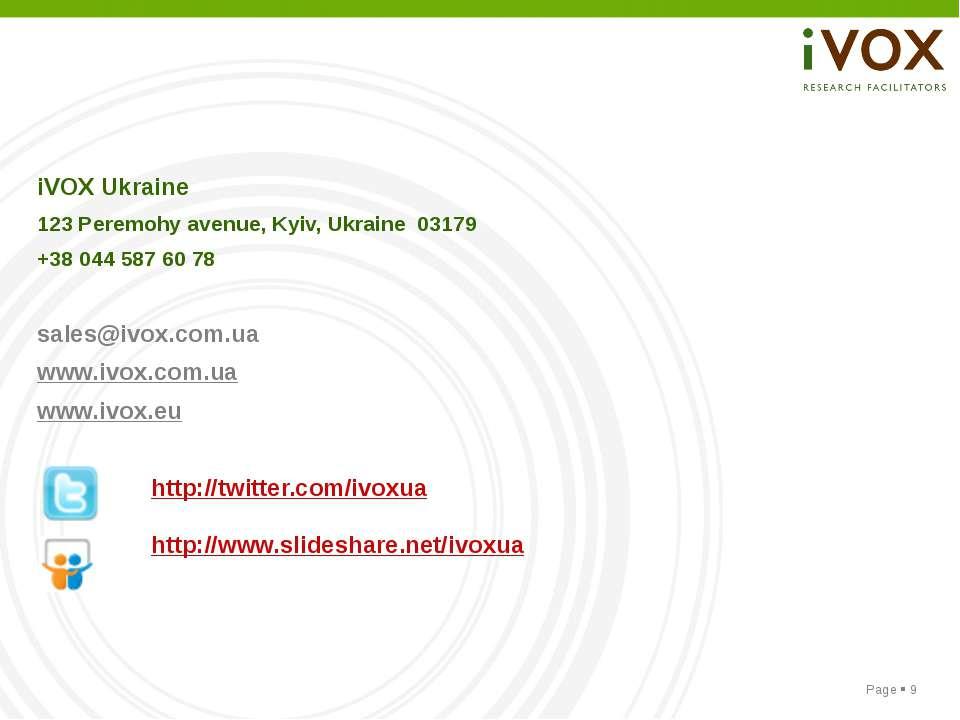 iVOX Ukraine 123 Peremohy avenue, Kyiv, Ukraine 03179 +38 044 587 60 78 sales...