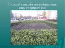 Сучасний стан квіткового оформлення репрезентативної зони