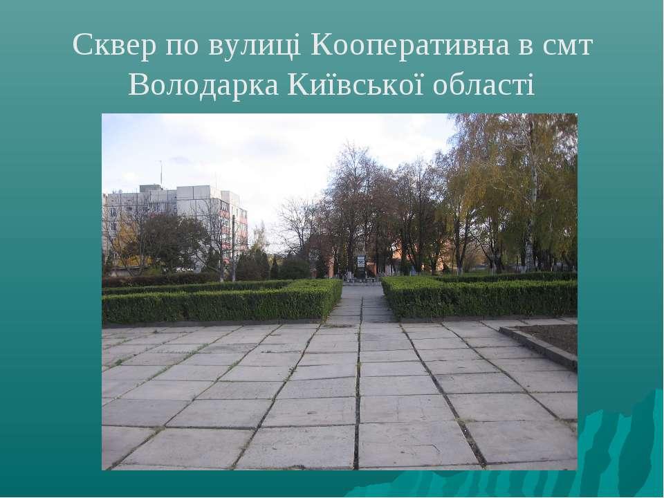 Сквер по вулиці Кооперативна в смт Володарка Київської області