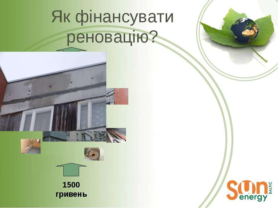 Як фінансувати реновацію? 1500 гривень 100 LVL