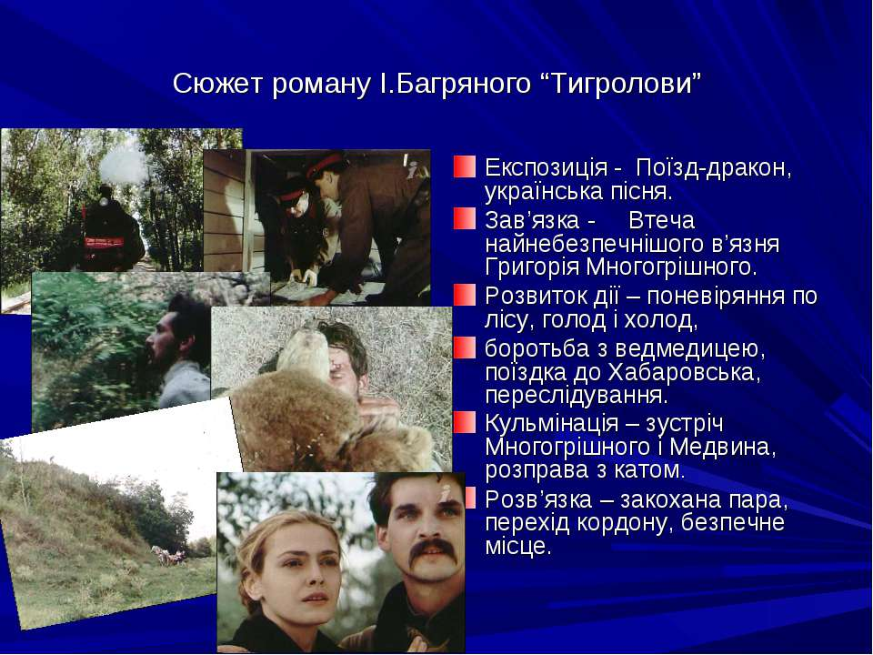 """Сюжет роману І.Багряного """"Тигролови"""" Експозиція - Поїзд-дракон, українська пі..."""