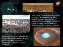 Рельєф Космічні апарати, що побували на Марсі, підтвердили наявність води у в...