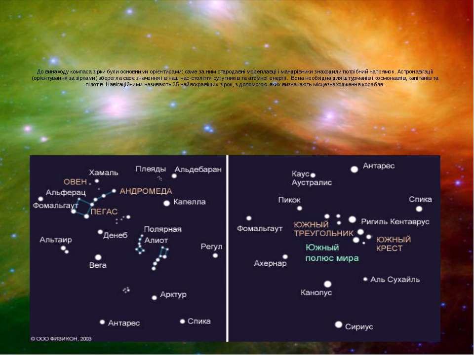 До винаходу компаса зірки були основними орієнтирами: саме за ним стародавні ...