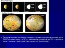 За даними непрямих досліджень, поверхня супутника представлена породами, що н...