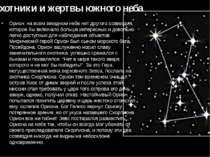 """Мисливці і жертви південного неба """" Оріон"""": на всьому зоряному небі немає інш..."""