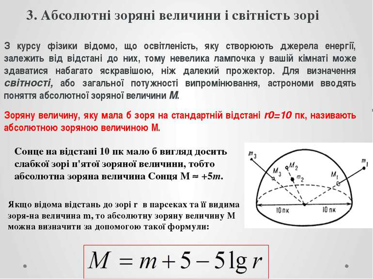 3. Абсолютні зоряні величини і світність зорі З курсу фізики відомо, що освіт...
