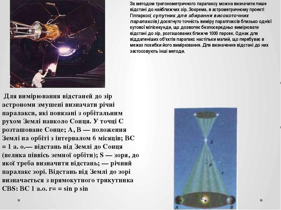 За методом тригонометричного паралаксу можна визначити лише відстані до найбл...