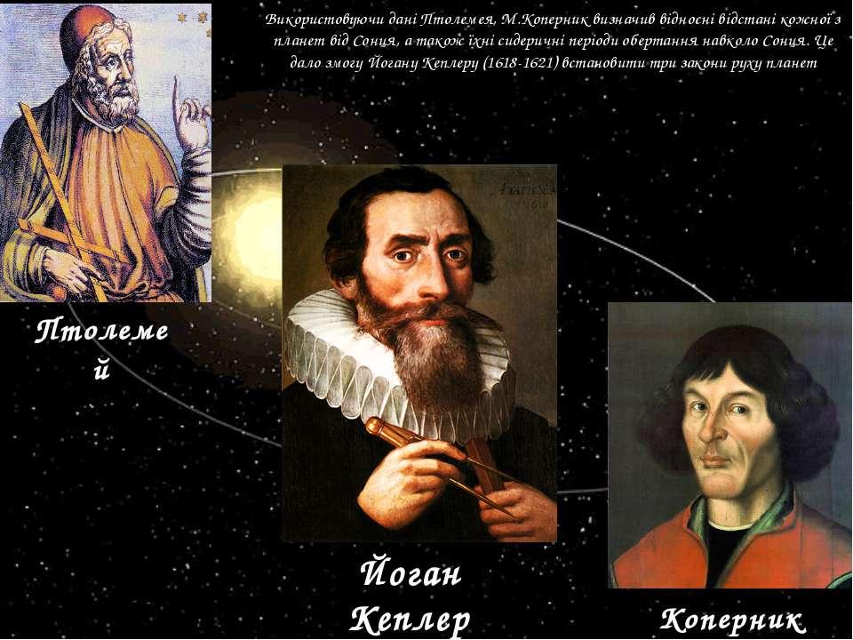 Використовуючи дані Птолемея, М.Коперник визначив відносні відстані кожної з ...
