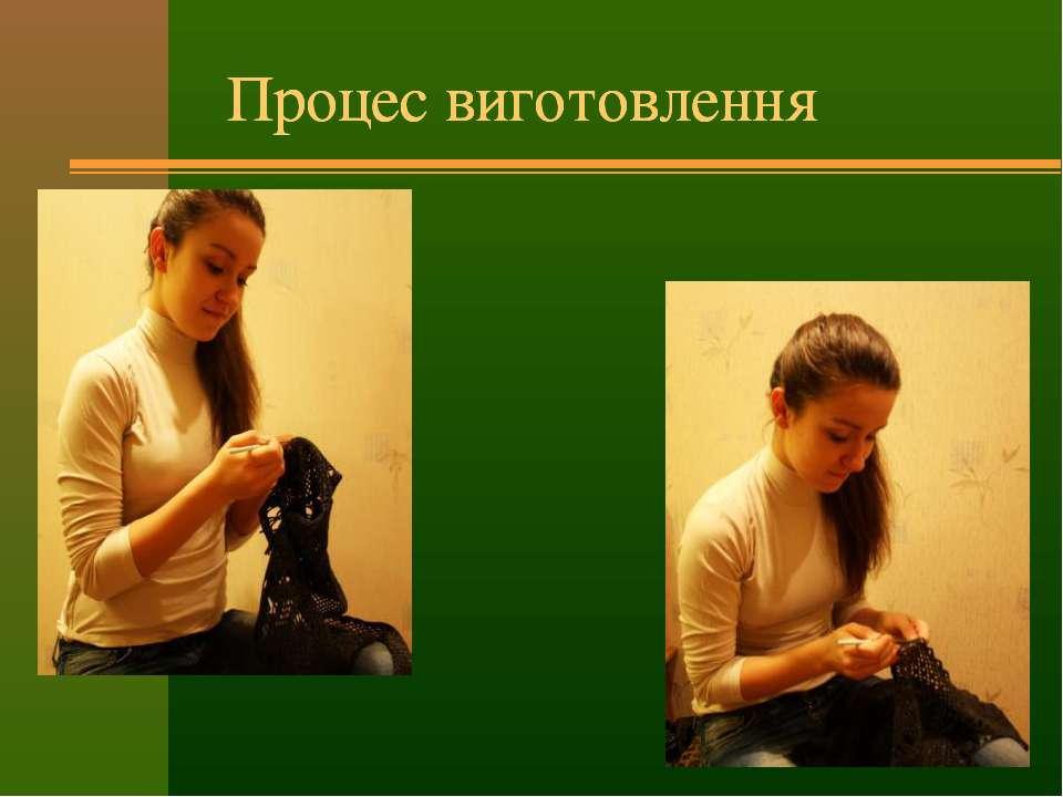 Процес виготовлення Процес виготовлення Процес виготовлення