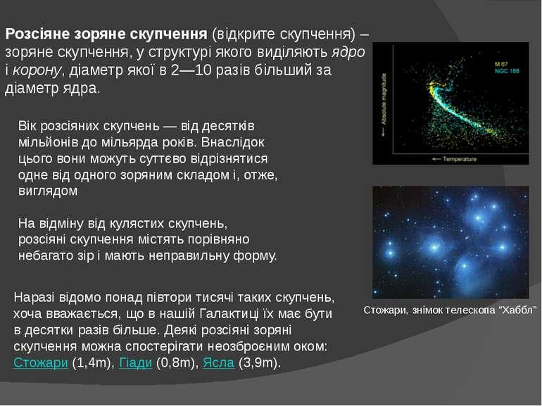Розсіяне зоряне скупчення(відкрите скупчення) – зоряне скупчення, у структур...