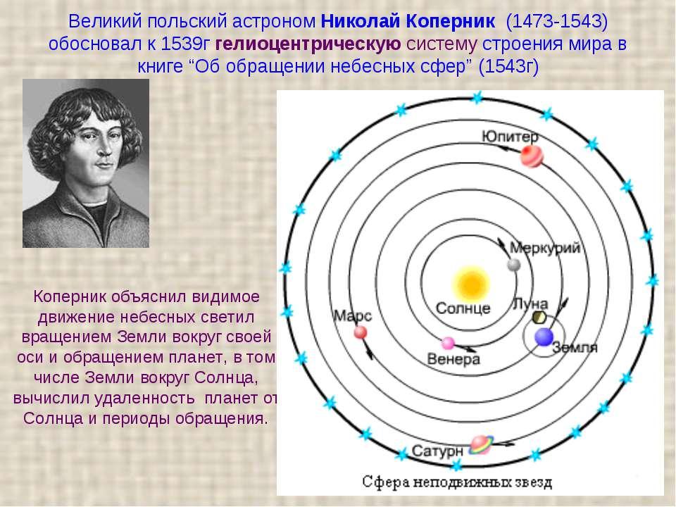 Великий польський астроном Микола Коперник (1473-1543) обґрунтував до 1539г г...