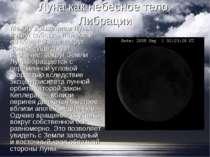 Місяць як небесне тіло. Либрации Між обертанням Місяця навколо власної осі і ...