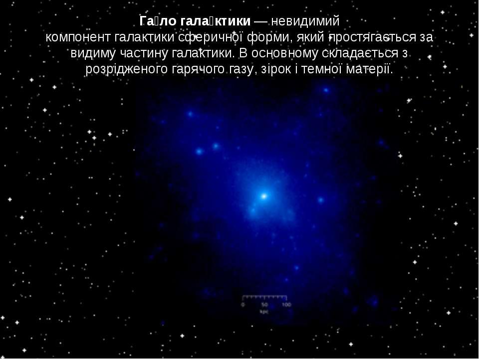 Га ло гала ктики— невидимий компонентгалактикисферичноїформи, який простя...
