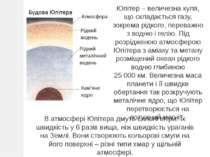 Юпітер – величезна куля, що складається газу, зокрема рідкого, переважно з во...