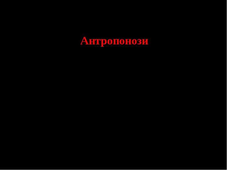 Антропонози Дизентерія бактеріальна Дизентерія амебна Черевний тиф Паратифи А...