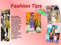 Fashion Tips Wear brightly coloured clothes this autumn. In a red hat, red sc...