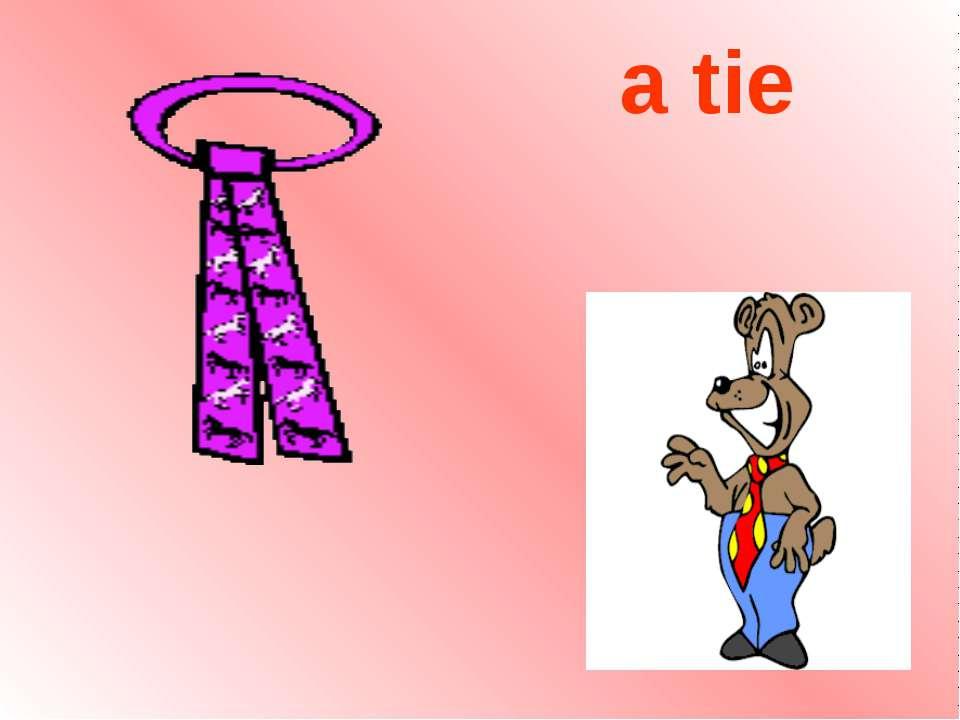 a tie