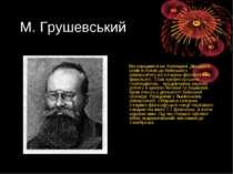 М. Грушевський Він народився на Холмщині. Двадцяти років вступив до Київськог...