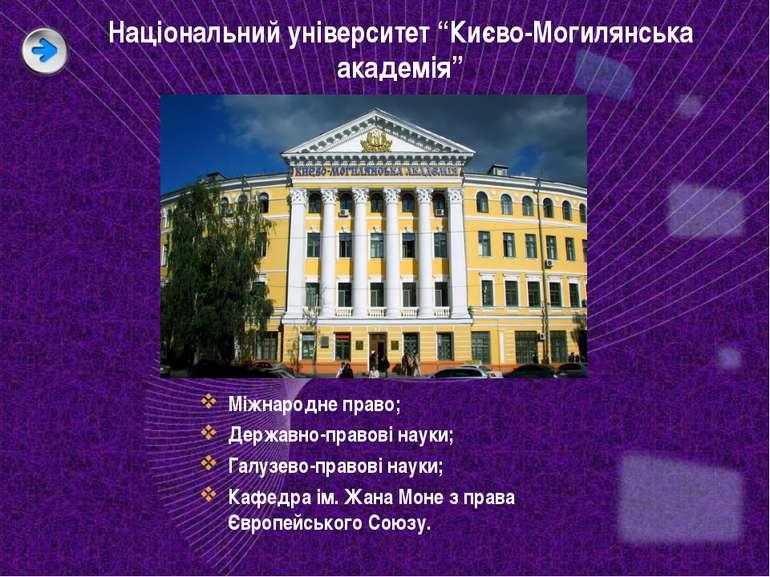 """Національний університет """"Києво-Могилянська академія"""" Міжнародне право; Держа..."""