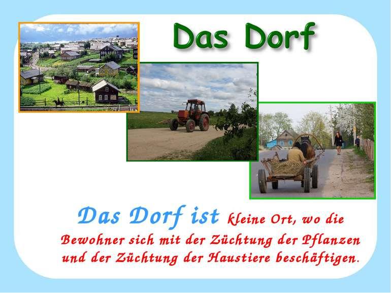 Das Dorf ist kleine Ort, wo die Bewohner sich mit der Züchtung der Pflanzen u...