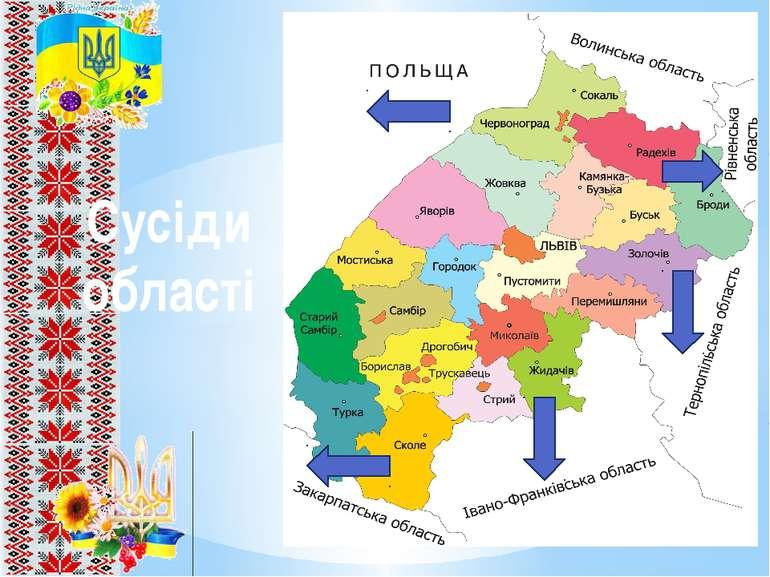Сусіди області