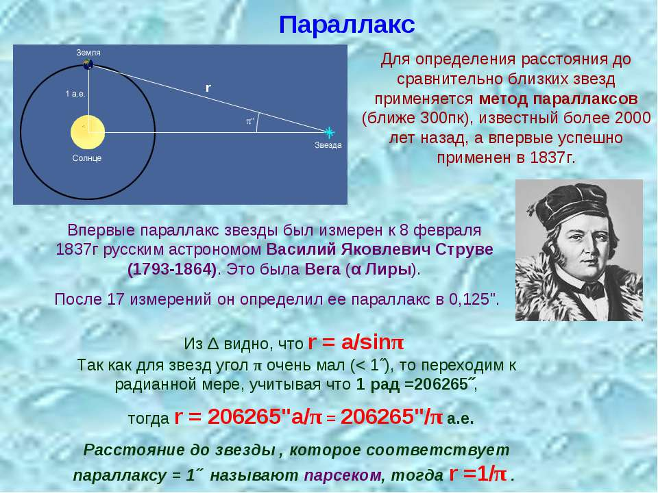 Паралакс Для визначення відстані до порівняно близьких зірок застосовується м...